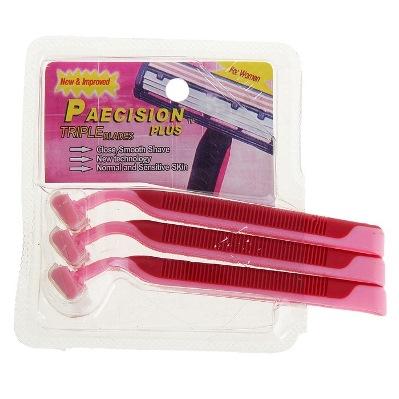 """Набор одноразовых станков для бритья """"Breeze"""" с 3-лезвиями, увлажняющей полоской, розовый, 3 шт."""