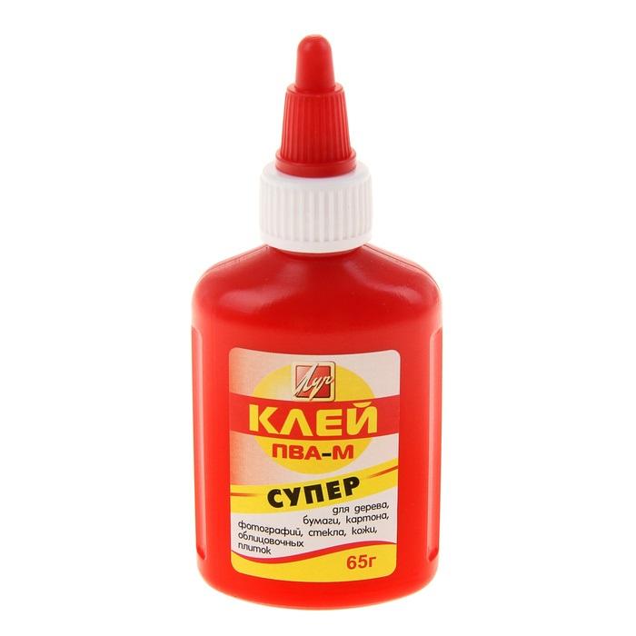 Клей ПВА-М 65 гр. Красный флакон